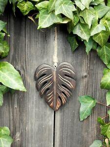 Dekohänger Blatt 17cm Monstera Garten Wanddeko Fensterdeko Holz Hänger Frühling