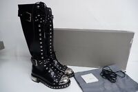 Alexander McQueen NEW Black Leather Tall Boots  SIZE 40 Uk 7 BNIB  £1990 STIVAL