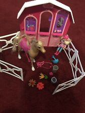 Pony Tale Horse Stable Playset Ranch. with One Doll In A Few Accessories Used.