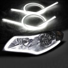 2pcs 45CM White LED Auto Car DRL Daytime Running Lamp Strip Light Flexible Tube