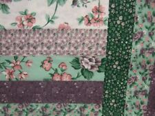 King Size Log Cabin Lavender Cheater Quilt Top 90 x 108 (3 Yards)