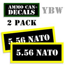 5.56 NATO Ammo Label Decals Box Stickers decals - 2 Pack BLYW