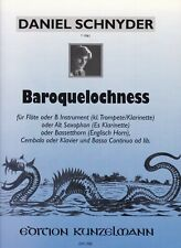 Daniel Schnyder : Baroquelochness, für Flöte, Alt-Saxophon, Bassetthorn, Klavier