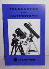 VINTAGE 1999 CELESTRON'S TELESCOPES FOR ASTRONOMY BOOK.  GREAT LEARNING BOOK.