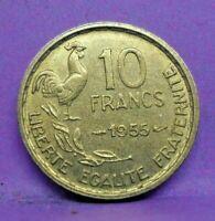 10 francs guiraud 1955 - SUP - pièce de monnaie française - N15650