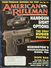 Magazine American Rifleman, OCTOBER 1996 !!! REMINGTON Model 700 MLS RIFLE !!!