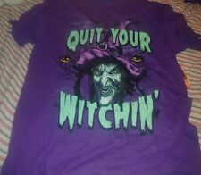 QUIT YOUR WITCHIN' HALLOWEEN T-SHIRT SIZE LARGE NEW WITH TAG!