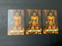 Heroquest Replacement Game Parts Set Of 3 Earth Spell Cards Free Shipping
