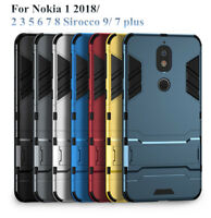 For NOKIA 1 2 3 5 6 7 9 8 Sirocco Shockproof Armor TPU Bumper Stand Case Cover