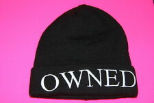 """SWAG INSPIRED COOL STATEMENT PRINT """"OWNED"""" BEANIE RETRO UNQIUE FASHION(HT3)"""