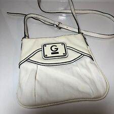 b99f5dd4fea9 GUESS White Faux leather Shoulder purse crossbody Messenger Bag Purse   Tote