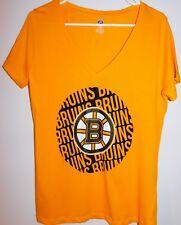 Boston Bruins Women's Junior V-Neck T-Shirt S, L NHL