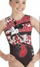 NWT GK Elite Disney Minnie Mouse Red Black Gymnastics Leotard Child & Adult