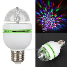 3W E27 RGB Crystal Ball Rotating LED Stage Light Bulbs Disco KTV Party Bulb