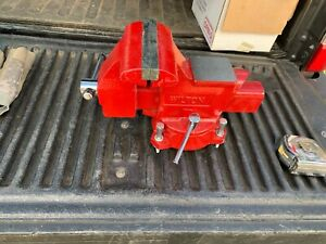 "Wilton 28819 Utility Bench Vise 5.5"" x 5"" 360° Swivel Base - Red"