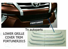 4PC CHROME LOWER VENT GRILLE COVER TRIM LINER FOR NEW TOYOTA FORTUNER SUV 2015