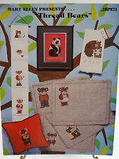 """Thread Bears"" Cross Stitch Pattern Leaflet 1982 Teddy Bears"