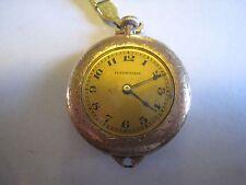 Vintage HAMPDEN Hand Winding Gold Tone Wristwatch W/Nice Detail Pat.1913 Band