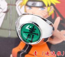 1.9cm Cool Naruto Akatsuki Deidara Qing Green Ring Metal Alloy Cosplay