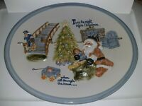 "Louisville Stoneware Large Heavy Ceramic 3D Christmas Serving Platter Tray 15.5"""