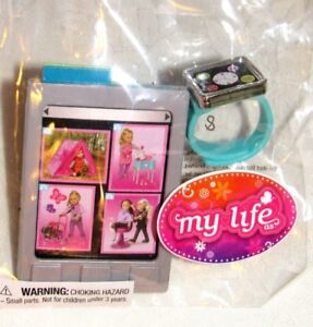 "My Life as AG OG 18"" Doll size Tablet Smartphone smartwatch watch play set Blue"