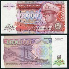 Congo Zaire 1000000 zaires 1992.07.31. Mobutu P44 Signature 8 UNC