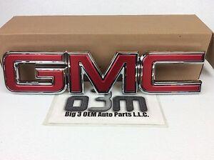 "2015-2017 GMC Sierra 1500 2500 3500 ""GMC"" Front Grille Emblem new OEM 23122159"