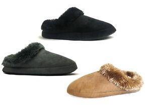 New Women Classic House Slipper Shoe Faux Fur Nice Warm Comfortable-305