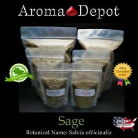 Sage Rubbed Leaves Salvia Officinalis Leaf Non GMO Natural Organic Pure Ground