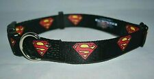 "Buckle-Down Plastic Clip Collar Super Man size Small 9"" X 15"" New With the tags"