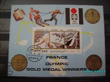 schöner Block France Olympic Gold Medal Winners gestempelt