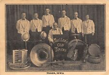 Traer IA~Moeller Old Timers Band~Sousaphone~Accordion~Saxophone~Trumpet 1925 B&W