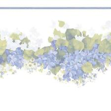 Violet Hydrangea Floral Small Laser Cut Wallpaper Border CO77196DC
