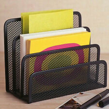 Mesh Letter Paper Storage Desk File Folder Rack Holder Tray Organizer Black