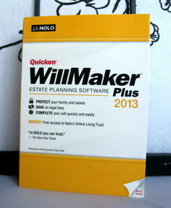 Quicken Will Maker Plus Estate Planning Software 2013 for Windows
