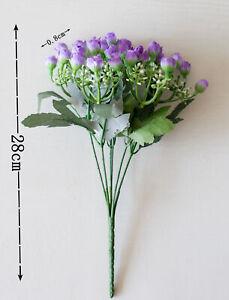 36 Heads Artificial Silk Flowers Bunch Wedding Graves Outdoor Bouquet