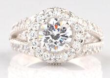 3,30Kt runden Form 585er Weiß gold fabelhaft Entwurf Solitär Verlobung Ring