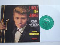 LP 33 T VINYLE 25 CM , JOHNNY HALLYDAY L ' IDOLE DES JEUNES , COMME NEUF .