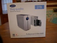 LaCie 2big quadra 2 TB Professional 2-Disc RAID w/Accessories Box Used