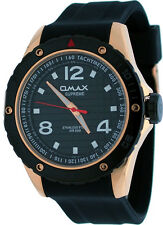 Omax Supreme SS562 Men's Rose Gold Tone Stainless Steel Resin Band Watch