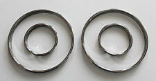 BMW E39 5-ser HIGH QUALITY SNAP ON BLACK CHROME GAUGES RINGS