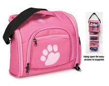 PET GROOMER GROOMING Travel Storage Tool Case Tote MULTI-USE ON THE GO BAG*PINK