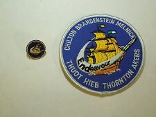 Lot of 2 NASA Space Shuttle Mission STS-49 Endeavour Iron On Patch & Pin