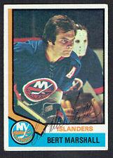 Bert Marshall #177 signed autograph auto 1974-75 Topps Hockey Trading Card