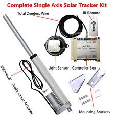 "Single Axis Solar Tracking Tracker -8"" Linear Actuator &Controller for Sun Track"