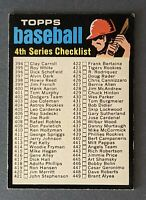 1971 Topps #369 4th Series Checklist Unmarked EX