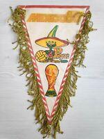 1986 FIFA WM World Cup MEXICO PIQUE Mascot Wimpel Fussball Vintage