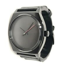 Nixon The Time Teller Black Darth Vader Leather Strap Unisex Watch!