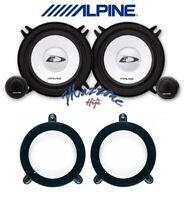 Alpine Set 4 Haut Parleur Pour Mercedes Classe C W203 Stands Post 13cm SXE-1350S