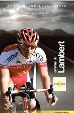 CYCLISME carte cycliste LAURENT THIRIONET équipe COFIDIS 2010